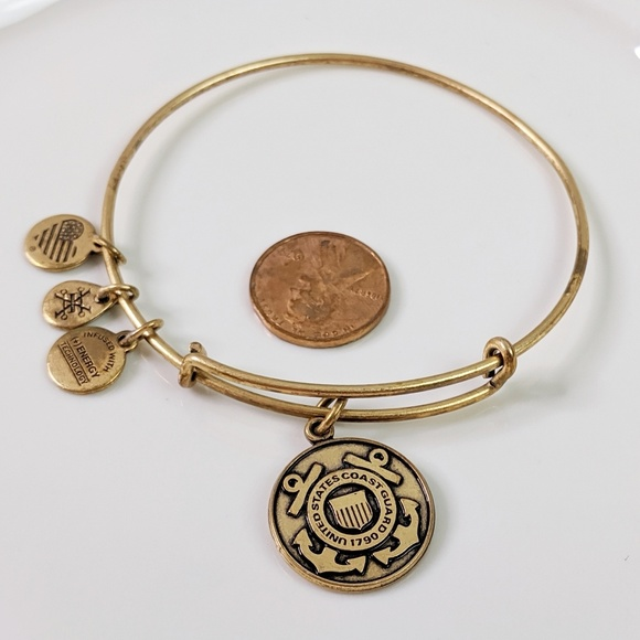 Alex and Ani Jewelry - Alex and Ani Gold US Coast Guard 1790 Bracelet